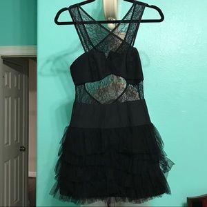 BCBG black lace formal dress